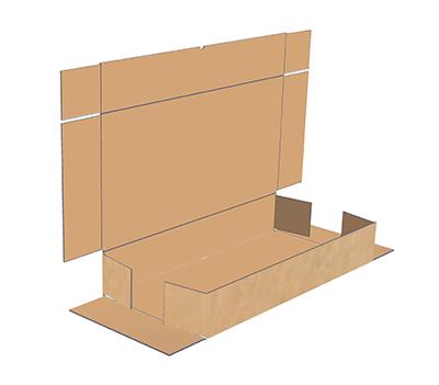 Mottled White Corrugated Board